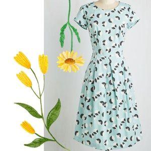 Modcloth DownEast Retro Sidewalk Sale Dress in L